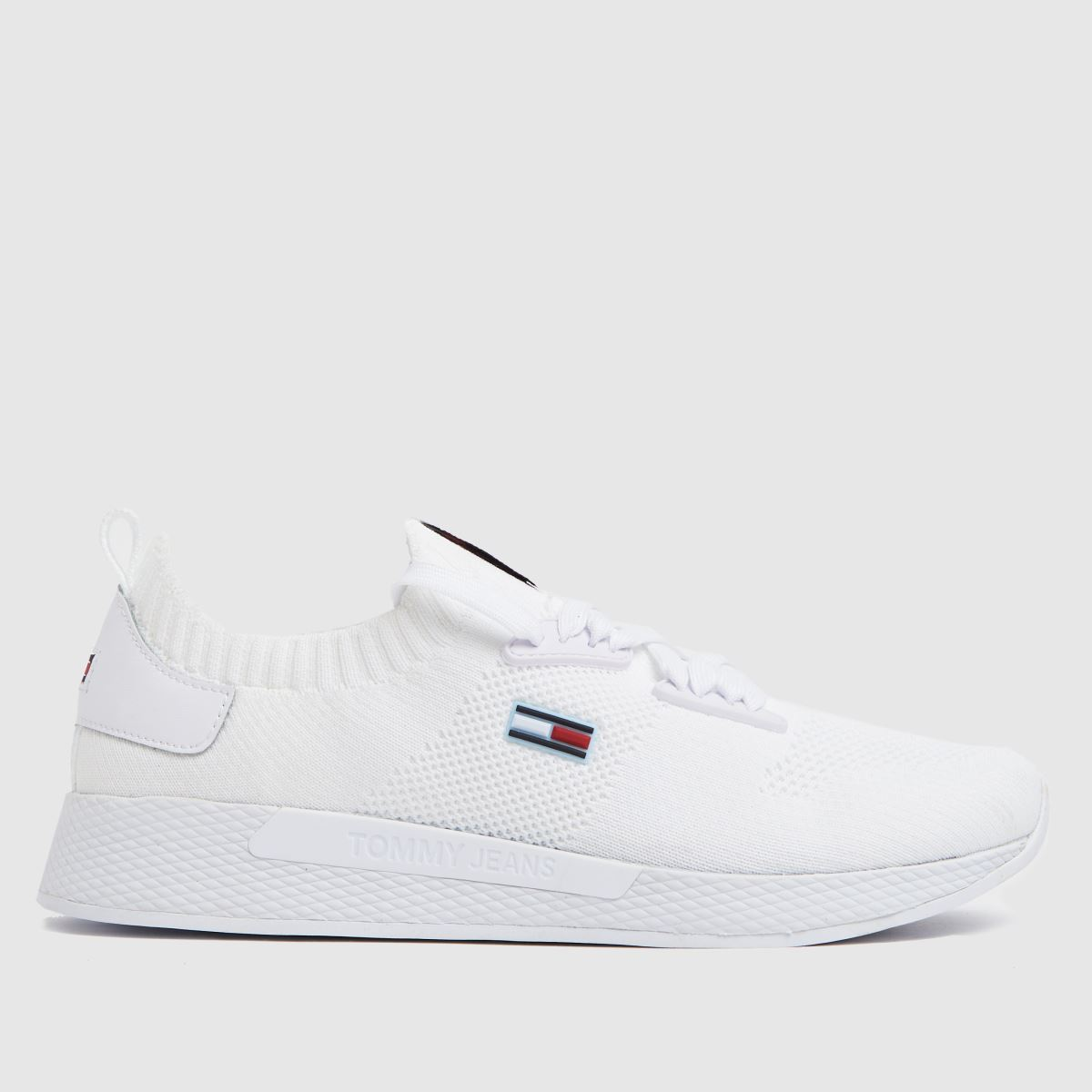 Tommy Hilfiger White Flexi Knitted Sneaker Trainers