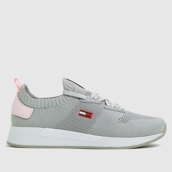 Tommy Hilfiger Grey Flexi Knitted Sneaker Womens Trainers