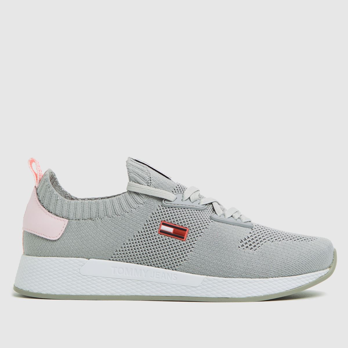 Tommy Hilfiger Grey Flexi Knitted Sneaker Trainers