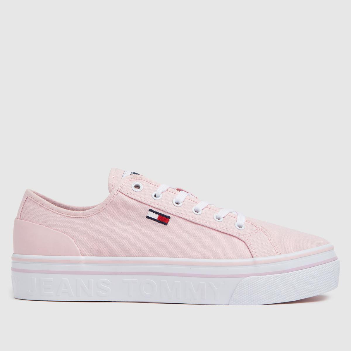 Tommy Hilfiger Pale Pink Flatform Vulc Trainers