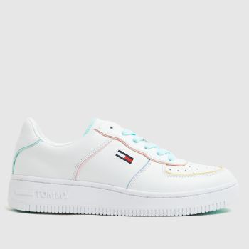 Tommy Hilfiger White & Pl Blue Abo Pastel Womens Trainers