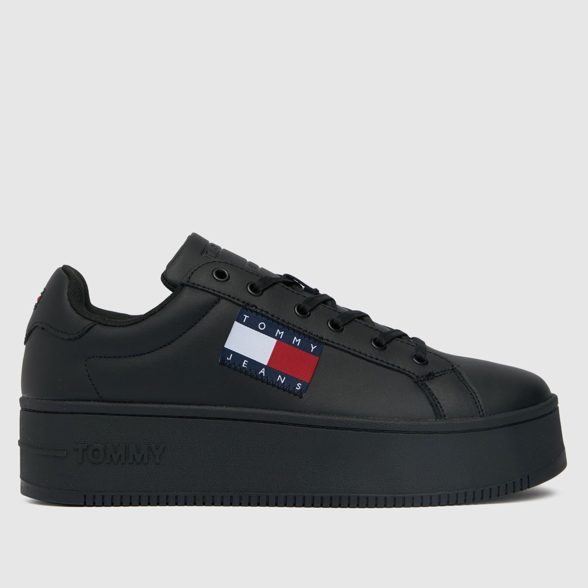 Tommy Hilfiger Black Flatform Flag Sneaker Trainers
