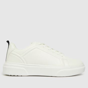 schuh White Nika Chunky Lace Up Womens Trainers