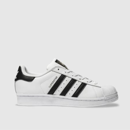 huge discount 11701 de47b adidas white & black superstar foundation trainers