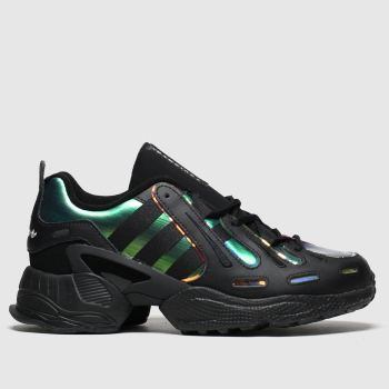 Adidas Black & Green Eqt Gazelle Womens Trainers#