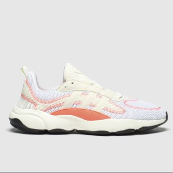 adidas White & Orange Haiwee Womens Trainers