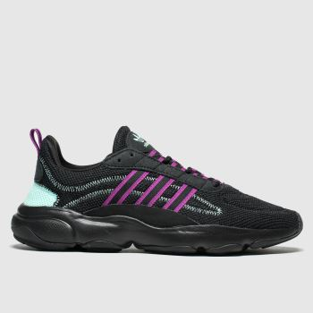 Adidas Black & pink Haiwee c2namevalue::Womens Trainers