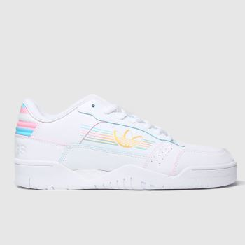 adidas White & Yellow Carerra Low Pride Womens Trainers