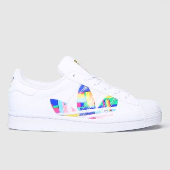 adidas White Superstar Pride Womens Trainers