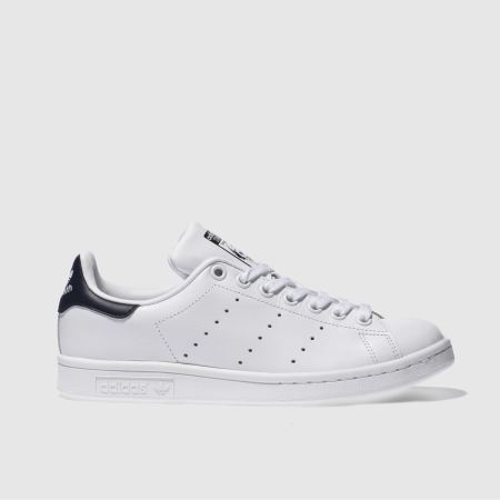 womens white   navy adidas stan smith trainers  5d5a52f184