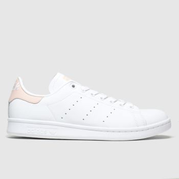 Adidas White & Pink Stan Smith Womens Trainers#