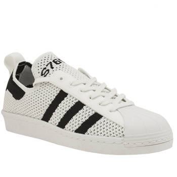 ADIDAS WHITE & BLACK SUPERSTAR 80S PACK TRAINERS