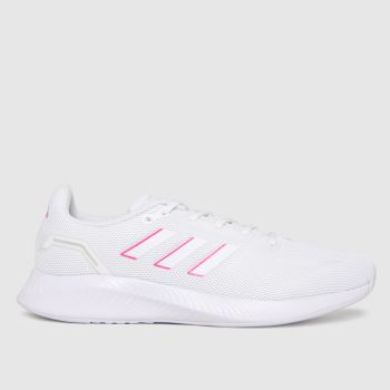 adidas White & Pink Runfalcon 2.0 Womens Trainers