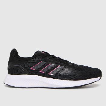 adidas Black & pink Runfalcon 2.0 Womens Trainers