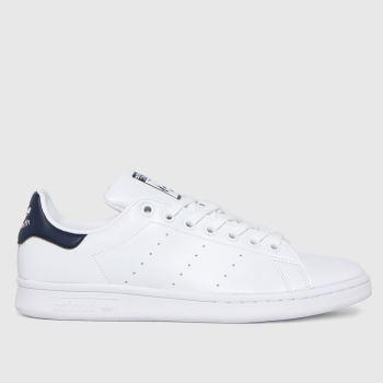 adidas White & Navy Stan Smith Primegreen Womens Trainers