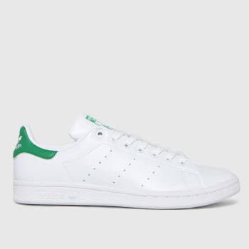 adidas White & Green Stan Smith Primegreen Womens Trainers