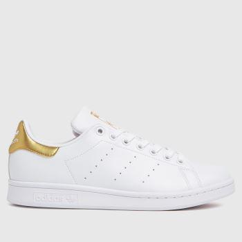 adidas White & Gold Stan Smith Primegreen Womens Trainers