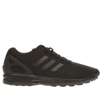 womens black adidas zx flux trainers  cf401ce529