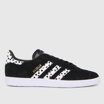 adidas Black & White Gazelle Womens Trainers
