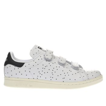 ADIDAS WHITE BLACK STAN SMITH COMFORT DOTS TRAINERS