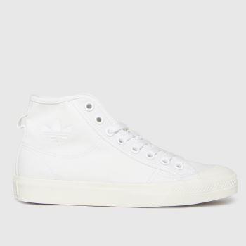 adidas White Nizza Hi Womens Trainers