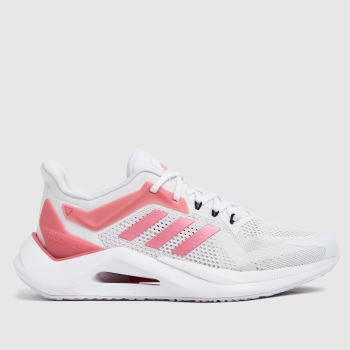 adidas White & Pink Alphatorsion 2.0 Womens Trainers