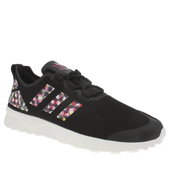 Adidas Black Zx Flux Verve Digital Womens Trainers