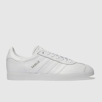 separation shoes f5cdf 1fa5c Adidas White Gazelle Leather Womens Trainers