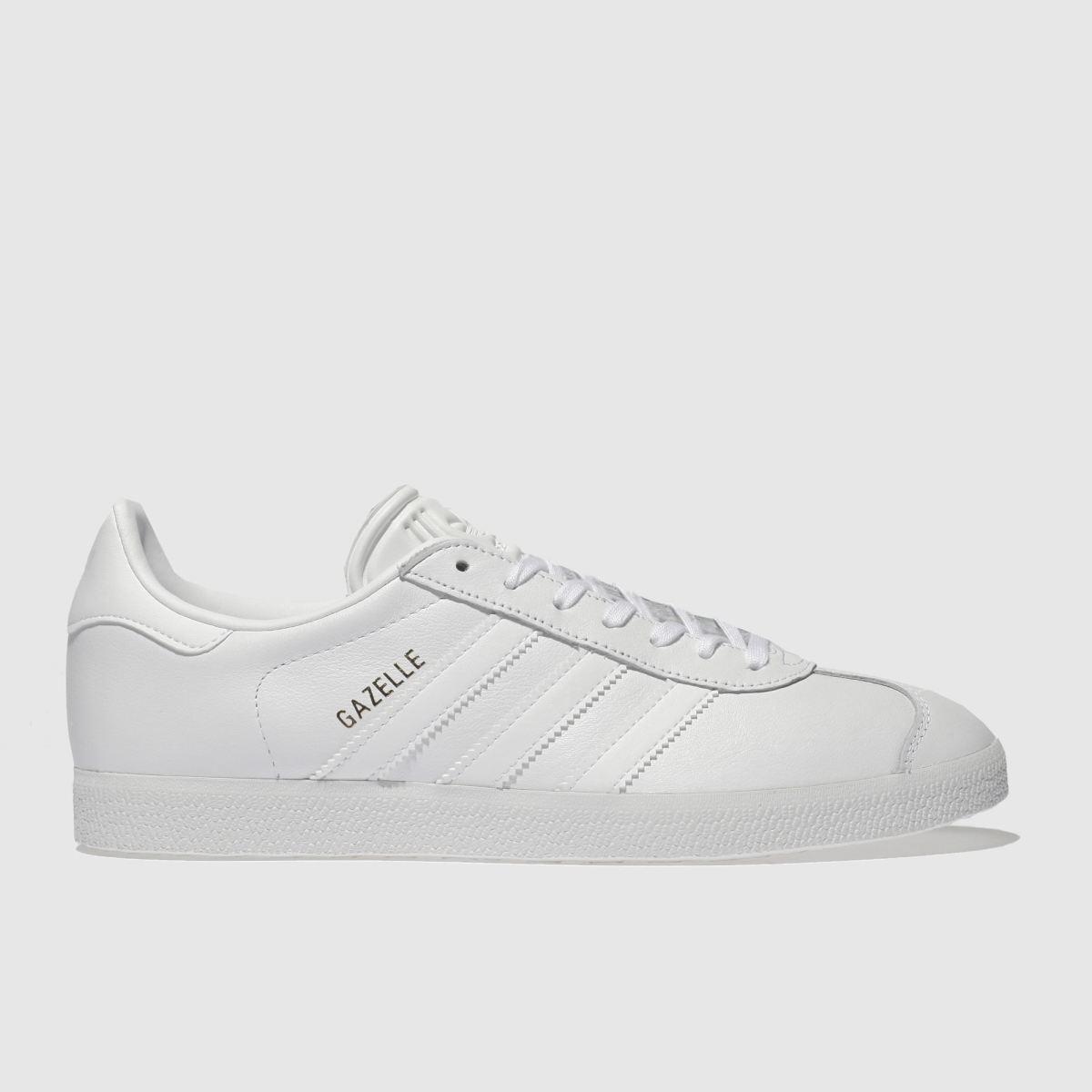 adidas white gazelle leather trainers