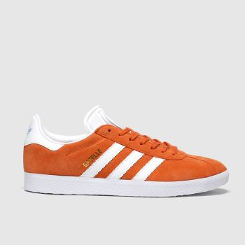 Adidas Orange Gazelle Womens Trainers#