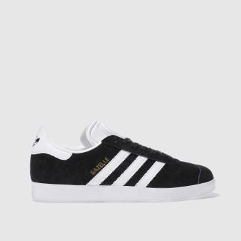 adidas Black & White Gazelle Suede Womens Trainers#