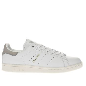info for 6bdc2 9b7df womens white & grey adidas stan smith trainers | schuh