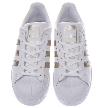 Cheap Adidas superstar white black gold Birchstone Moore