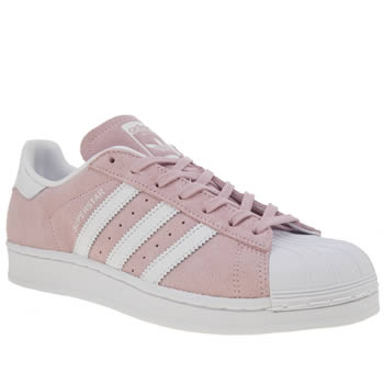 womens pale pink adidas superstar trainers  82bdf6c1d