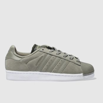 Adidas Khaki Superstar Womens Trainers