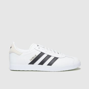 Adidas White & Black Gazelle c2namevalue::Womens Trainers