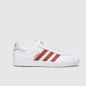adidas White & Red Gazelle Womens Trainers#