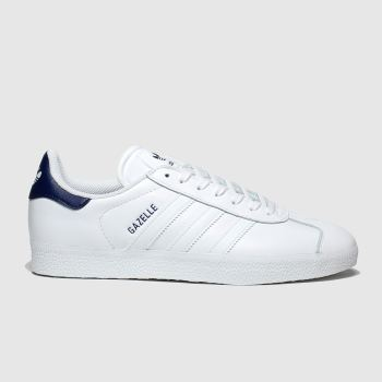Adidas White & Navy Gazelle Womens Trainers