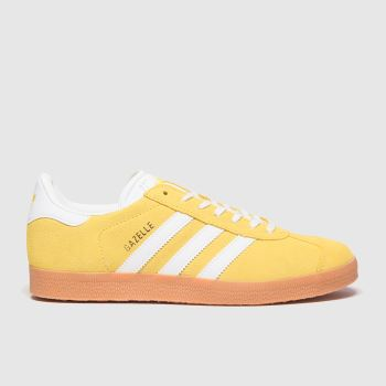 Adidas Yellow Gazelle Womens Trainers#