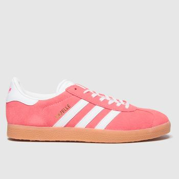 Adidas Red Gazelle Suede Womens Trainers#