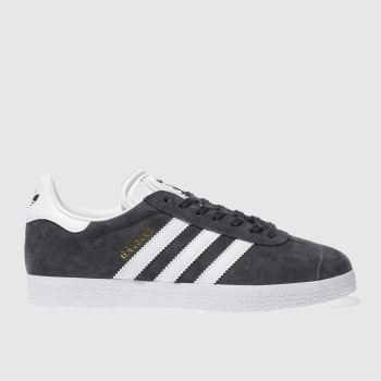 adidas Dark Grey Gazelle Suede Womens Trainers#