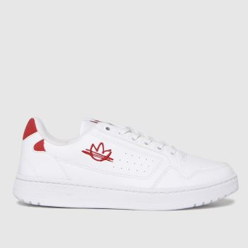 adidas White & Red Ny 90 Womens Trainers