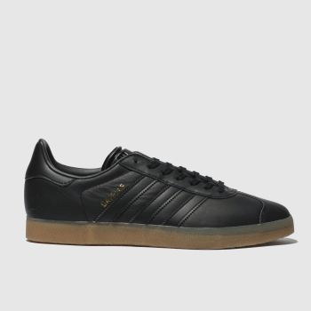 Adidas Black Gazelle Gum Womens Trainers 2f68d9fb23