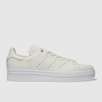 ADIDAS WHITE STAN SMITH BOLD TRAINERS