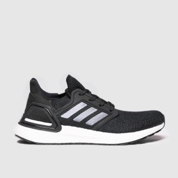 adidas Black & White Adi Ultraboost 20 Womens Trainers#