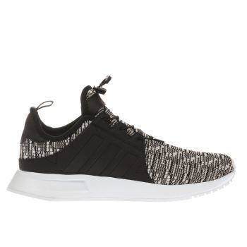 ADIDAS BLACK & WHITE X_PLR STRIPES TRAINERS