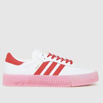 adidas White & Red Sambarose W Womens Trainers