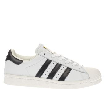 ADIDAS WHITE & BLACK SUPERSTAR BOOST TRAINERS