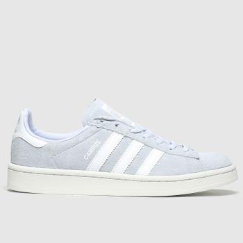 Adidas White & Pl Blue Campus Womens Trainers