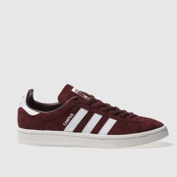 Adidas Burgundy Campus Womens Trainers
